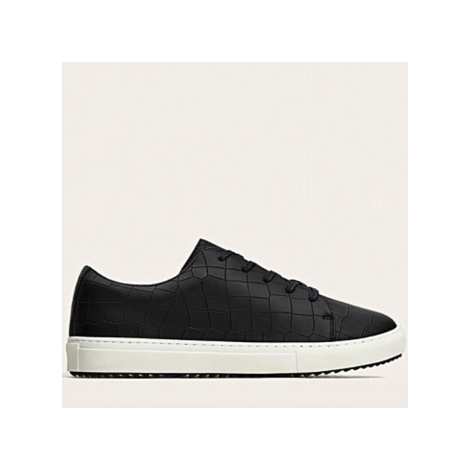 89ec2045011c Zara Embossed Black Sneakers