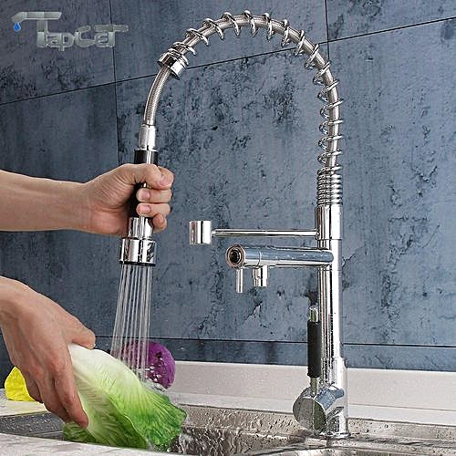 Modern Chrome Pull Out Spray Swivel Mixer Kitchen Bathroom Basin Sink Tap Faucet