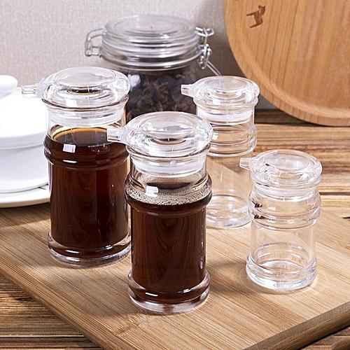 Kitchen Anti-leakage Oil Bottle Spice Bottle Hotel Kitchen Sauce Vinegar Oil Bottle Eco-Friendly Clear Acrylic Transparent Cruet HLS