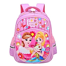 bca11c81448 Avengers Mickey Mouse Minion Spiderman · Princess Backpack Waterproof  School Bags For Girls - Pink