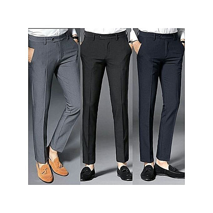 e65058137b6 Fashion Three Pieces Smart Trousers For Men- Ash
