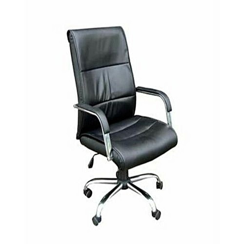 Directors Office Chair (President) - Black Leather