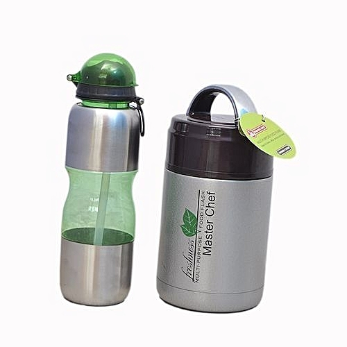 Kids Food Flask And Water Bottle