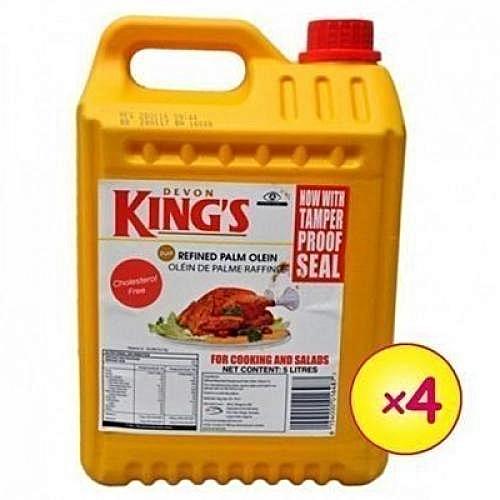 DEVON KING'S Vegetable Cooking Oil - 5 Litres - 1 Carton (4pcs)