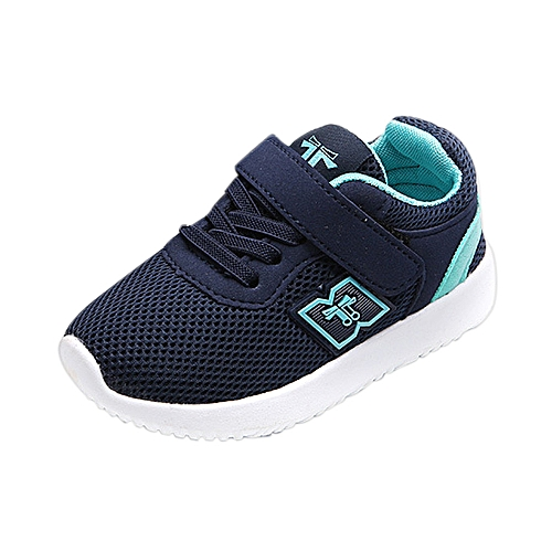 New Fashion Baby's Casual Sneakers Sports Shoes Outdoor Running Shoes- Blue