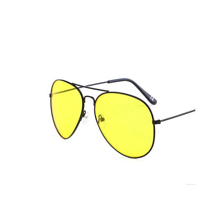 4473633f9f Fashion Polarized Anti Glare Sun Night Driving Glasses- GOLD