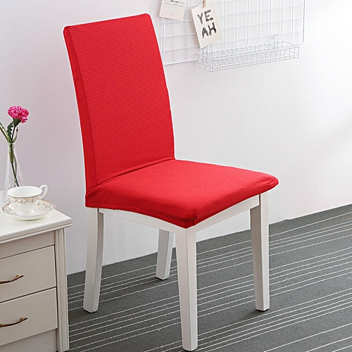 Knitted Computer Chair Cover Siamese Office Chair Cover Simple Dining Chair Cover Stool Cover Back Cover Hotel Chair Cover # Chinese Red
