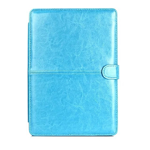 """PU Leather Case Protective Sleeve For Macbook Pro 15.4"""" Retina Laptop Notebook Protector Case+Gifts Blue"""