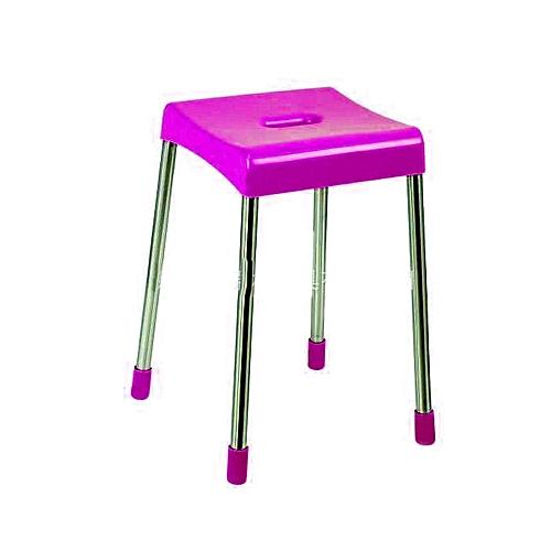 Plastic Sleeve Folding Stool - Purple