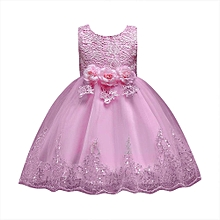 Floral Baby Girl Princess Bridesmaid Pageant Gown Birthday Party Wedding  Dress Musiccool b12ca5ec5f22