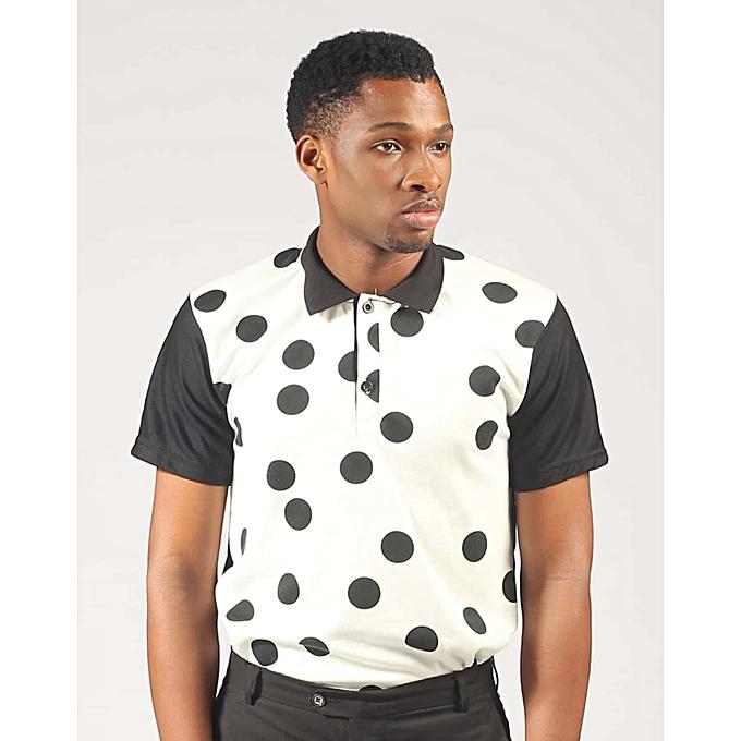 eb4bb3759d3f Babyface White& Black Dots Polo | Jumia NG
