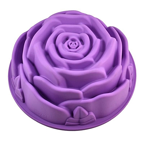 Silicone Non-Stick Rose Flower Muffin Baking Cake Pan Tray Mold (Color Send Randomly)
