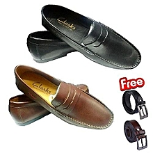 9b625bccb77 2 IN 1New Clarks Loafers Shoe + FREE BELTS