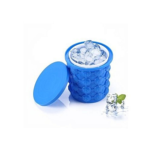Ice Cube MakerSilicone Ice Bucket Ice Cube Trays Molds With Lid Ice Ball Maker