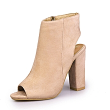 f27db895f24a Women Buckle Ankle Straps Suede Point-Toe Up Heels Shoes