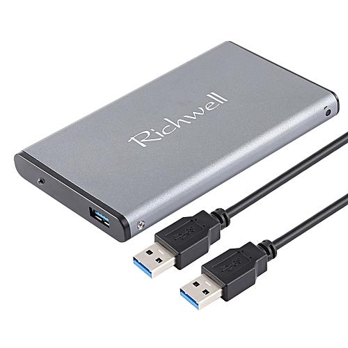 Richwell SATA R2-SATA-2TB 2TB 2.5 Inch USB3.0 Super Speed Interface Mobile Hard Disk Drive(Grey)