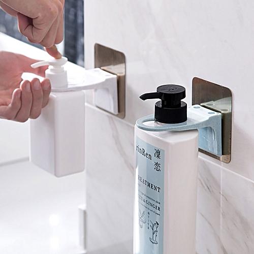 Wall Mounted Magic Sticky Shampoo Hook Shower Hand Soap Bottle Hanging Holder Bathroom Hanger Access