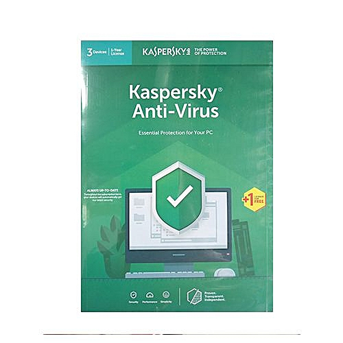 Anti Virus 3 User + 1 Free LicenseKasp 2019
