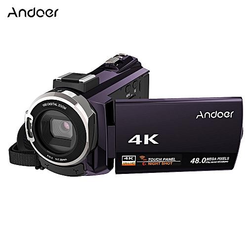 4K 1080P WiFi Digital Video Camera Camcorder Recorder-Coffee