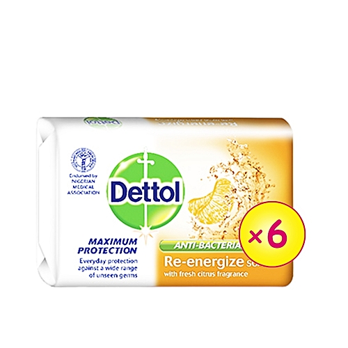 Re-energize Anti-bacterial Soap - 110g (Pack Of 6)
