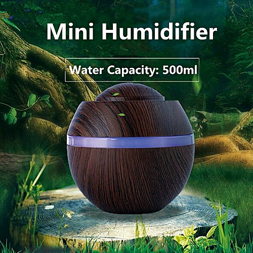 500ML Mini LED Air Aroma Humidifier Ultrasonic Changing Essential Oil