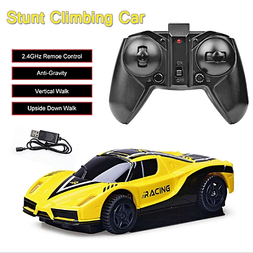 Remote Control Wall Climbing RC Car New LED Lights Rotating Antigravity  Machine Wall Racer Electronic Gravity Defying Hobby Toys
