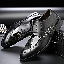 e569fd714ca2 Brogue Shoes Men Carving Flower Oxfords Formal Shoes British Casual Shoes  (Black)