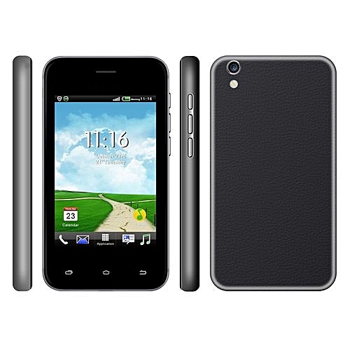 7700-3.5 Inch HVGA Touch Screen Phone & Quad Core Last Battery -Black