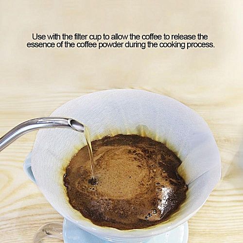 50PCS Cone-Shape Drip Coffee Powder Filter Papers Cup