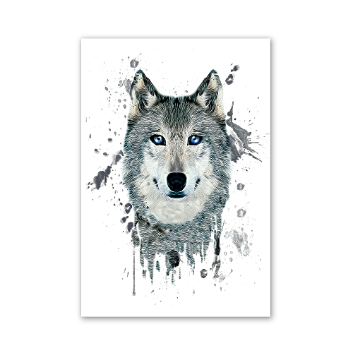 W027 Wolf Head Unframed Wall Art Canvas Prints For Home Decoration