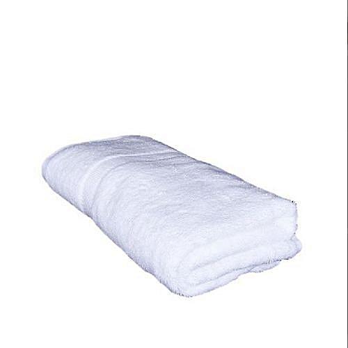 Cotton White Bath Towel- White