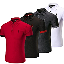 c0c9320de Men  039 s Short Sleeve Polo Shirt Buttoned T-Shirt ...
