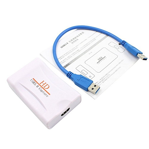 OR HD USB 3.0 Capture HDMI Video Dongle 1080P 60FPS Box Plug&Play-white