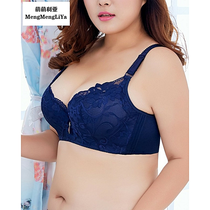 a47ae3679f ... Women Underwire Push-up Bra Floral Lace Soft Cup Everyday Bra (InkOrchid )