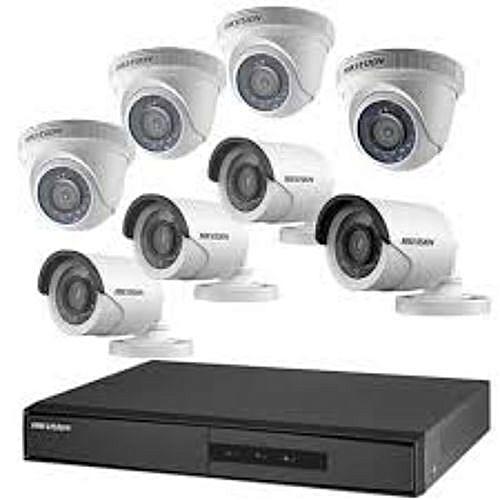 CCTV 1080P AHD 2.0 CCTV Camera 4 Indoor + 4 Outdoor Camera + One 8Channel DVR