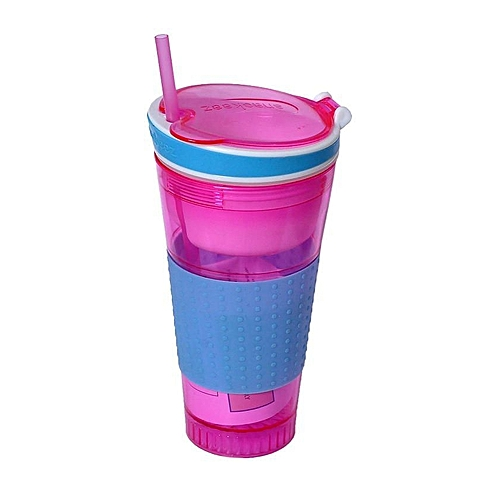 Snackeez 2 In 1 Cup - Pink