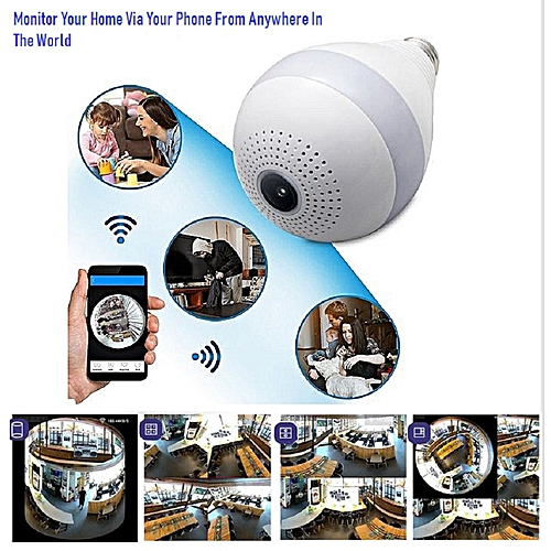 Motion Activated Security Camera WIFI Panoramic 360 Surveillance Camera