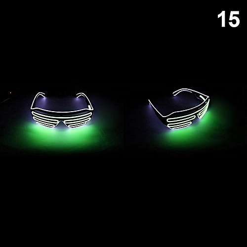 Double Color Flashing Glasses LED Light Goggles For Halloween Party Bar JDH99