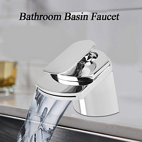 Solid Brass Bathroom Basin Cold & Warm Water Mixing Faucet Mixer Tap (US Size Nut)