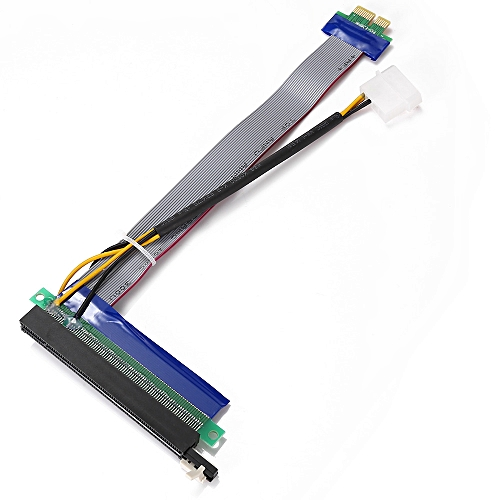 PCI Express 1Xto 16X Extension Flex Cable Riser Card Adapter