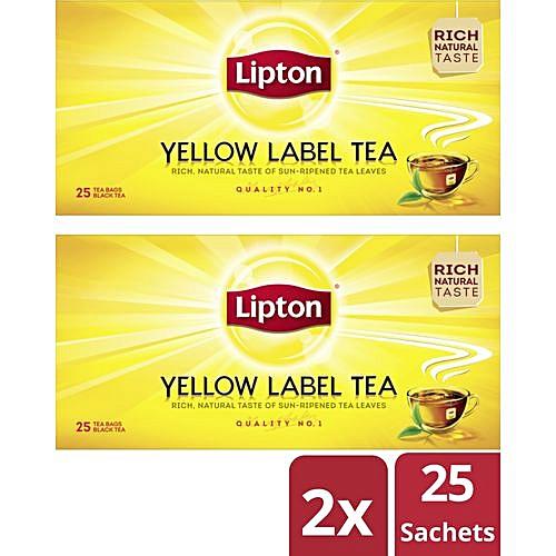 Yellow Label Tea (25 Bags) - 50g (x 2)