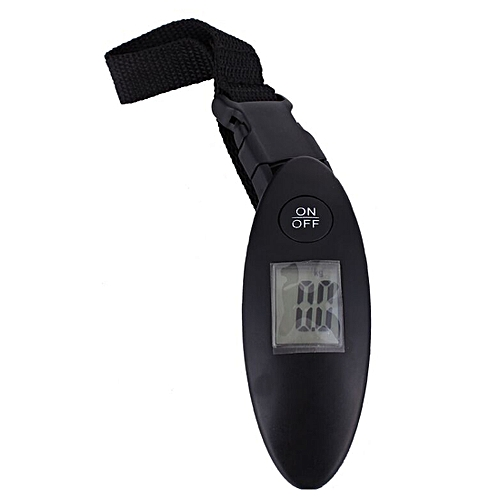 1pc Portable LCD Display 40kg/10g 88Lb Digital Electronic Luggage Scale Travel Handheld Weighing Luggage Suitcase Bag Scale(Black)