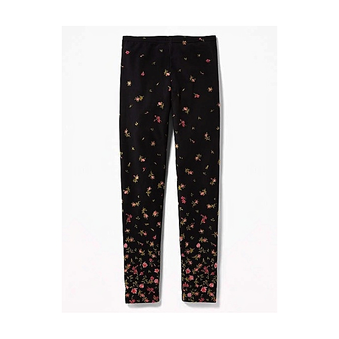 a54860f2e9677e Old Navy Black Rose Floral Leggings For Toddler Girls | Jumia NG