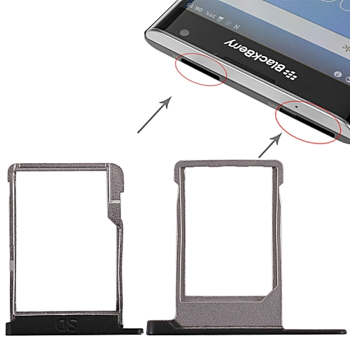 SIM Card Tray + Micro SD Card Tray For Blackberry Priv (Black)