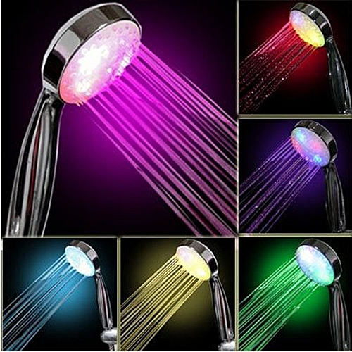 7 Color LED Light Bright Water Bath Home Bathroom Shower Head Glow