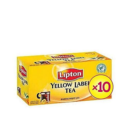 Yellow Label Tea Bag 80 Packs (carton) X 10