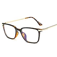 bb8c073cb Rectangle Eyeglasses Frame Black TR90 Titanium Computer Glasses Amber  Eyewear Women Men