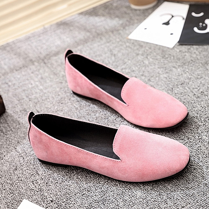 a5a7829b6 ... Blicool Shoes Women Ladies Slip On Flat Round Toe Shallow Shoes Sandals  Casual Shoes Pink