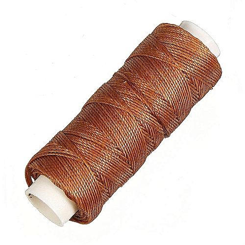 0.45mm 50M Faux Leather Sewing Waxed Thread Cord DIY Hand Stitching Awl Craft