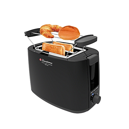 Two Slice Auto Pop-up Toaster POP-212 - BLACK